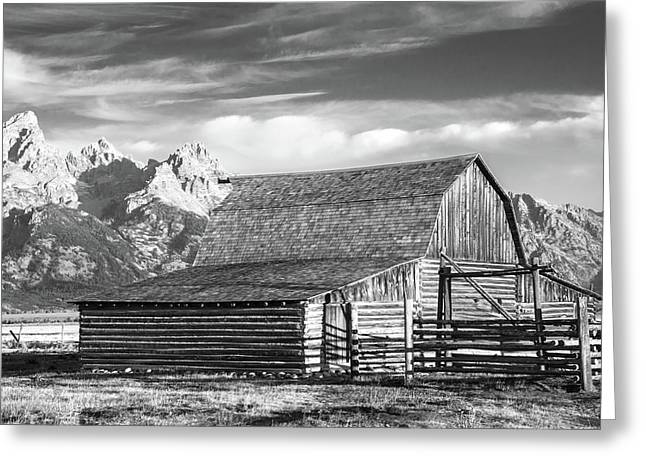 Greeting Card featuring the photograph Moulton Homestead - Barn by Colleen Coccia