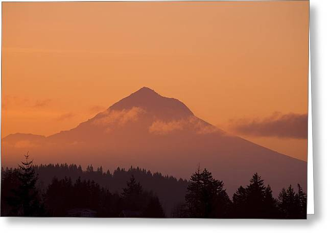 Mount Hood, Oregon, Usa Greeting Card by Craig Tuttle