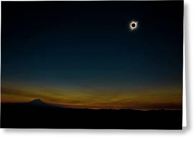 Mount Jefferson Solar Eclipse Greeting Card
