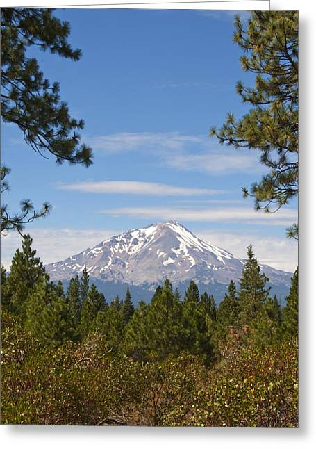 Greeting Card featuring the photograph Mount Shasta by Daniel Hebard