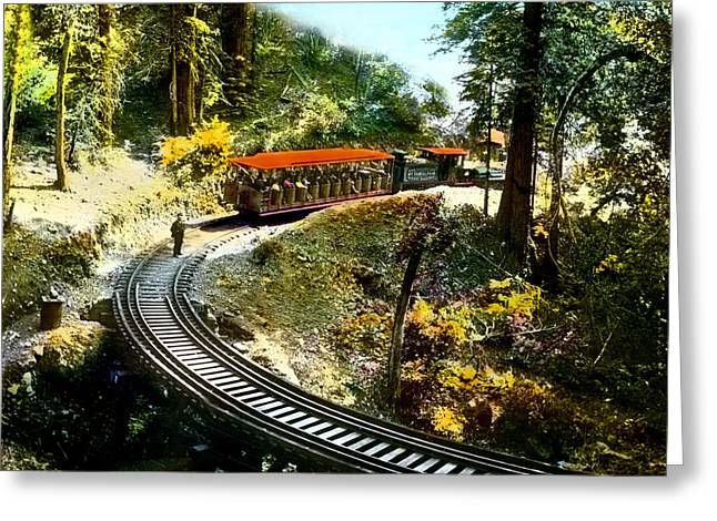 Mount Tamalpais Railway In The 1890s California Greeting Card