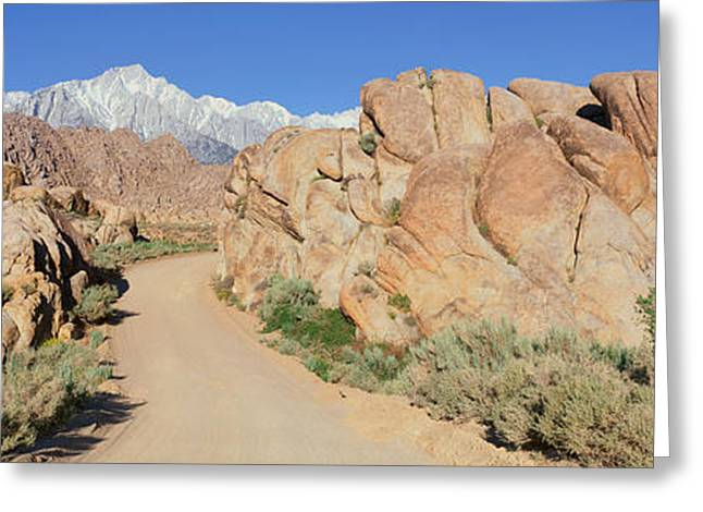 Mount Whitney, Lone Pine, California Greeting Card by Panoramic Images