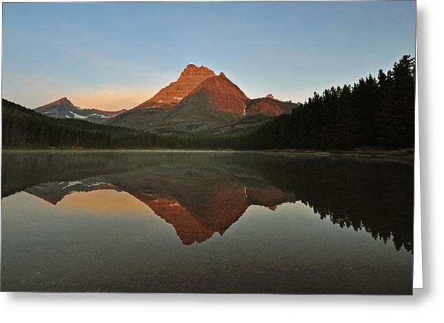 Mount Wilbur, Glacier National Park Greeting Card