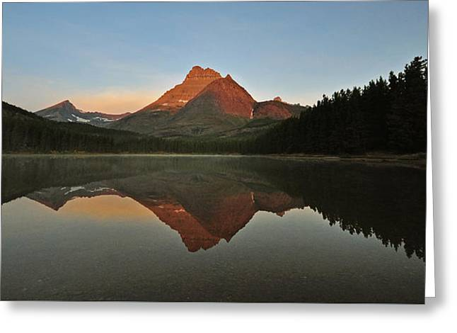 Mount Wilbur, Glacier National Park Greeting Card