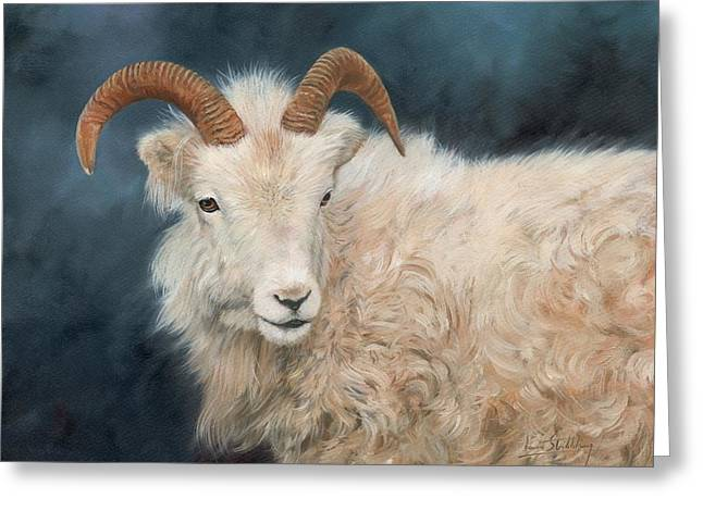 Mountain Goat Greeting Card by David Stribbling
