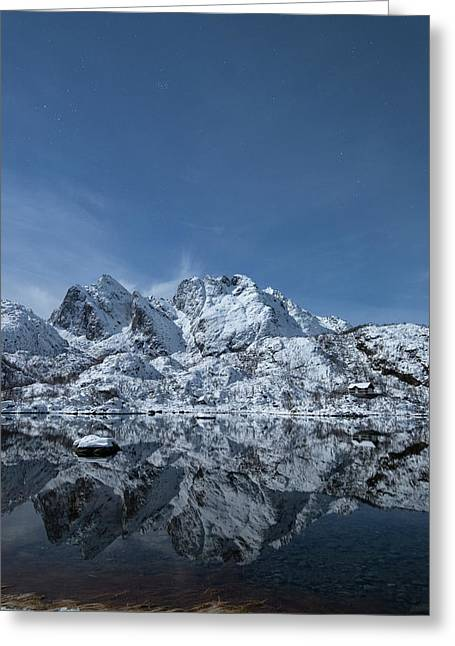 Mountain Reflection Greeting Card by Frank Olsen