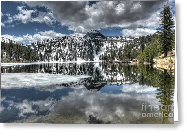 Mountain Reflections Greeting Card by Thomas Todd