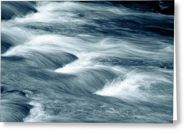 Mountain Stream Greeting Card by Les Cunliffe