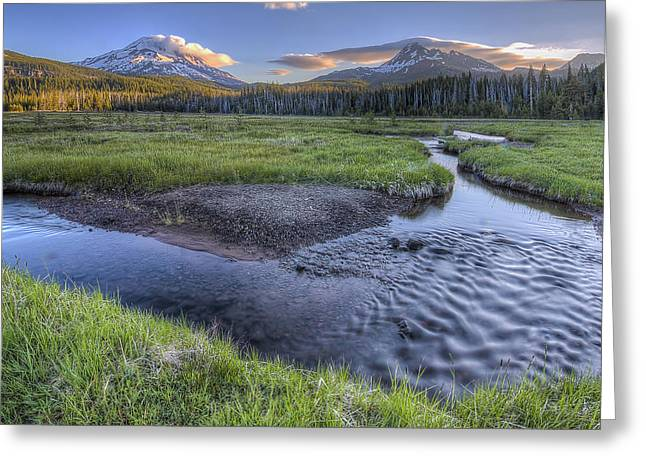 Mountains From Soda Creek Greeting Card