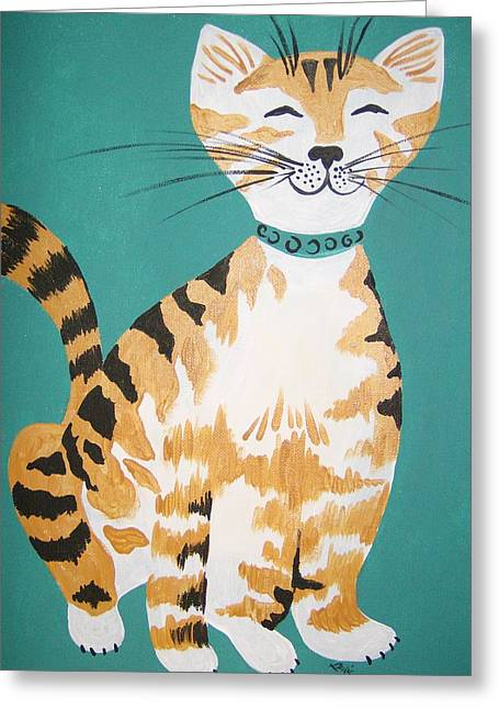 Mr. Tabby Greeting Card by Leslie Manley