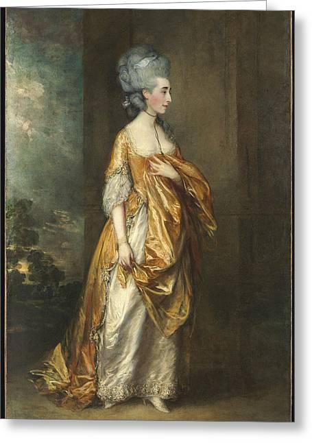 Mrs. Grace Dalrymple Elliott Greeting Card by Thomas Gainsborough