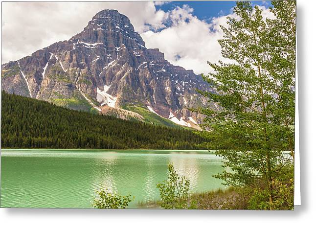 Greeting Card featuring the photograph Mt. Chephren by Mark Mille