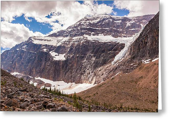 Greeting Card featuring the photograph Mt. Edith Cavell  by Mark Mille