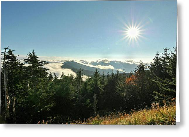 Mt Mitchell Landscape Greeting Card
