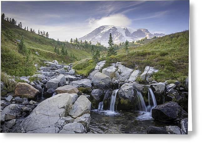 Mt. Rainier Greeting Card by Michael Donahue
