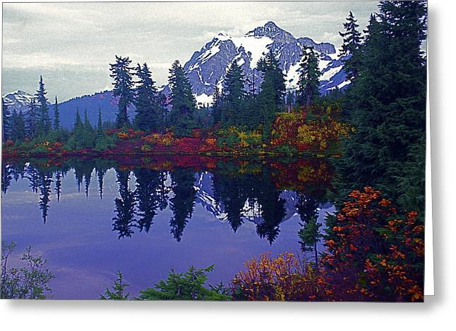 Mt. Shuksan - Picture Lake Greeting Card