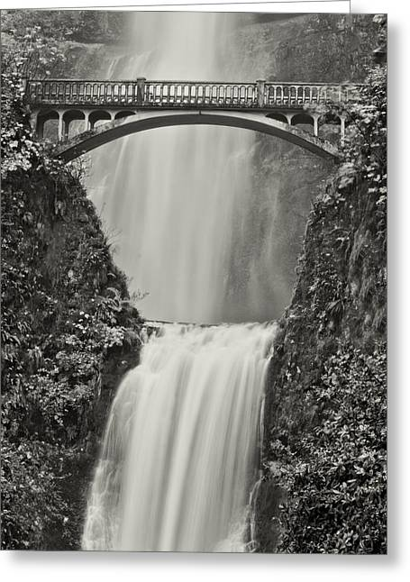 Multnomah Falls Upclose Greeting Card