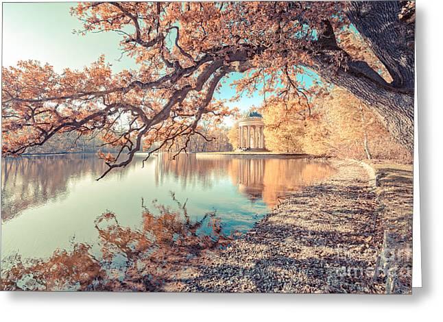 Munich At Fall Greeting Card by Hannes Cmarits