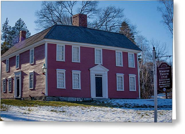 Munroe Tavern 1735, Lexington Massachusetts Greeting Card