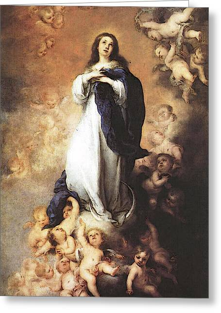 Murillo Immaculate Conception  Greeting Card by Bartolome Esteban Murillo