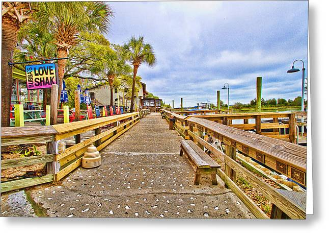 Murrells Inlet Marshwalk Greeting Card