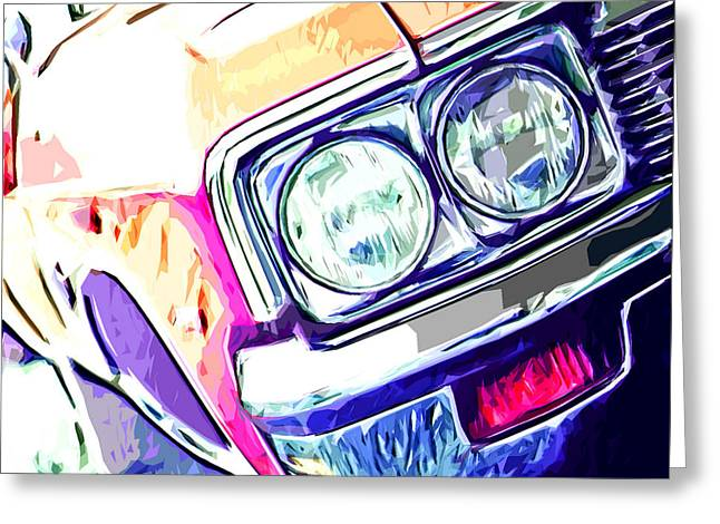 Muscle Car Greeting Card by Brandi Fitzgerald