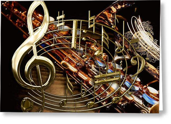 Musical Collection Greeting Card by Marvin Blaine