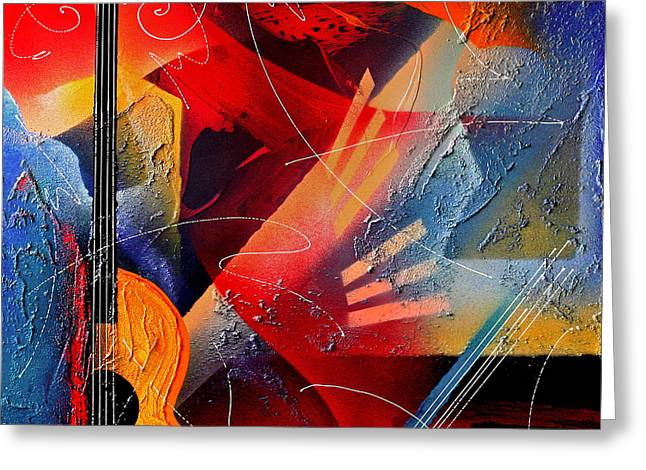 Musical Textures Series Greeting Card by Andrea Tharin