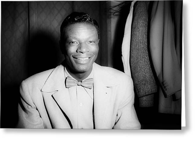 Music's Golden Era - Nat King Cole 1946 Greeting Card by Mountain Dreams