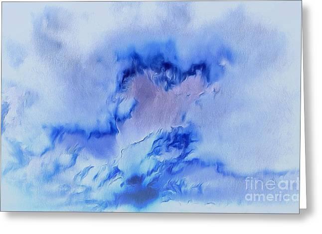 My Blue Heart Greeting Card