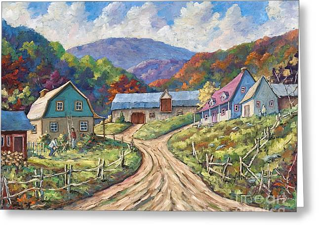 My Country My Village Greeting Card by Richard T Pranke