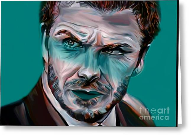 My Name Is David Beckham  Greeting Card by Felix Von Altersheim