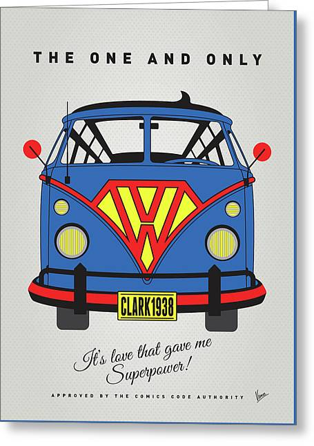 My Superhero-vw-t1-superman Greeting Card