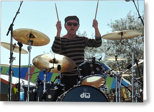 Myron Grombacher - Pat Benater Band Greeting Card by John Black