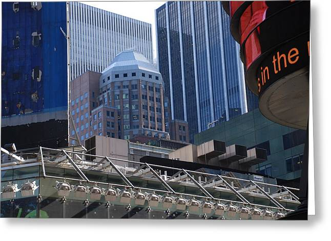 N Y C Architecture Greeting Card by Rob Hans