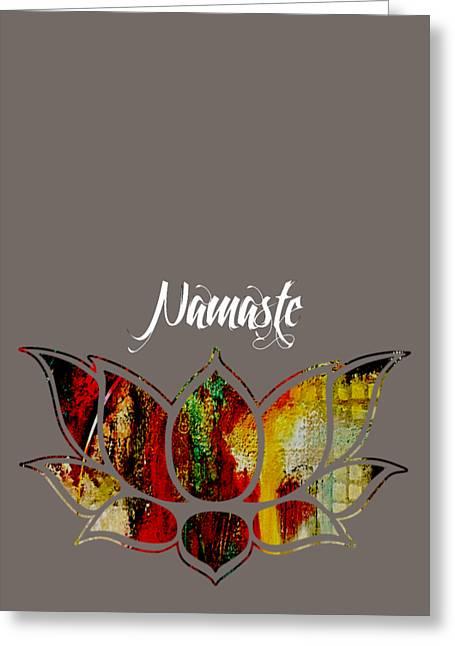 Namaste Greeting Card by Marvin Blaine