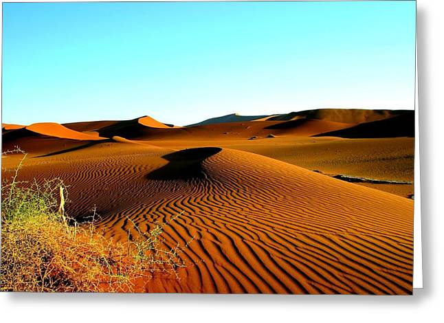 Greeting Card featuring the photograph Namibia Dunes by Riana Van Staden