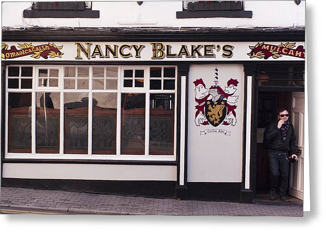Nancy Blake's Irish Pub Greeting Card by Andrew  Michael