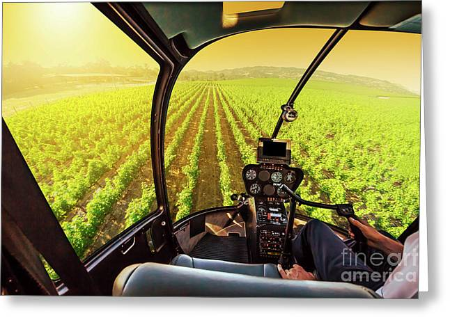 Napa Valley Scenic Flight Greeting Card