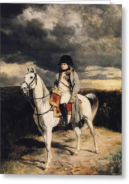 French Leaders Greeting Cards - Napoleon Bonaparte On Horseback Greeting Card by War Is Hell Store