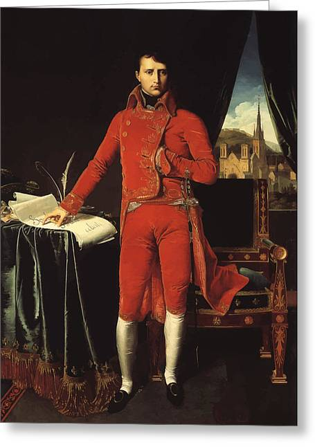 World Leader Greeting Cards - Napoleon Bonaparte Greeting Card by War Is Hell Store