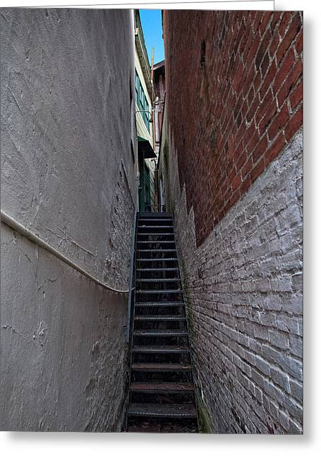 Narrow Stairs Greeting Card