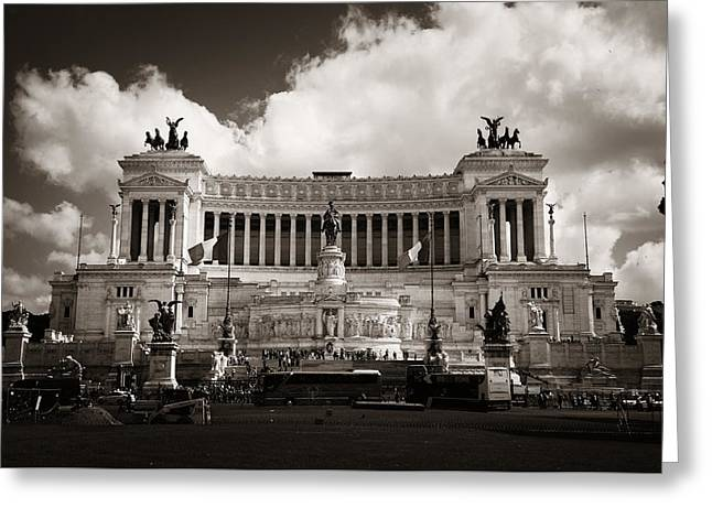 National Monument To Victor Emmanuel II  Greeting Card by Songquan Deng