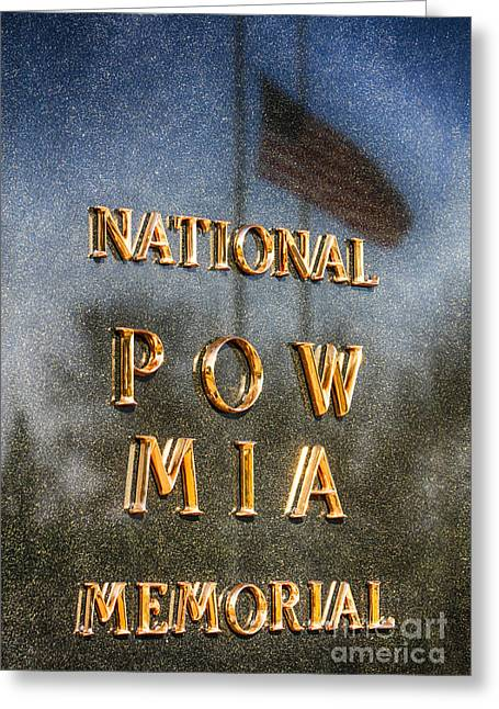 National Pow-mia Memorial Greeting Card by Tommy Anderson