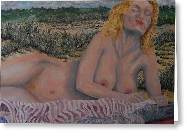 Natural Blonde Greeting Card by Robert Schmidt