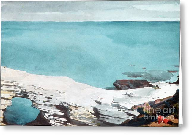 Natural Bridge, Bermuda Greeting Card by Winslow Homer