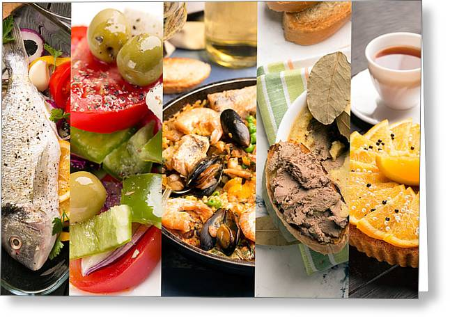 Natural Food. Photo Collage.  Greeting Card by Vadim Goodwill