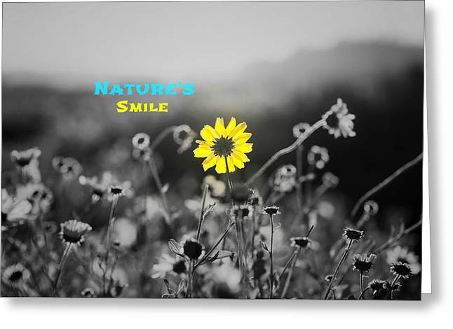 Nature's  Smile Greeting Card by Joseph S Giacalone