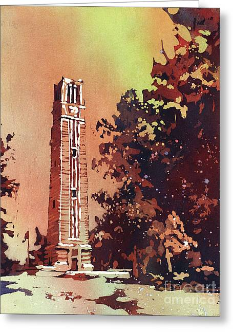 Ncsu Bell-tower Greeting Card