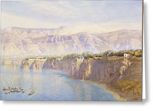 Near Sorrento Greeting Card by John Brett